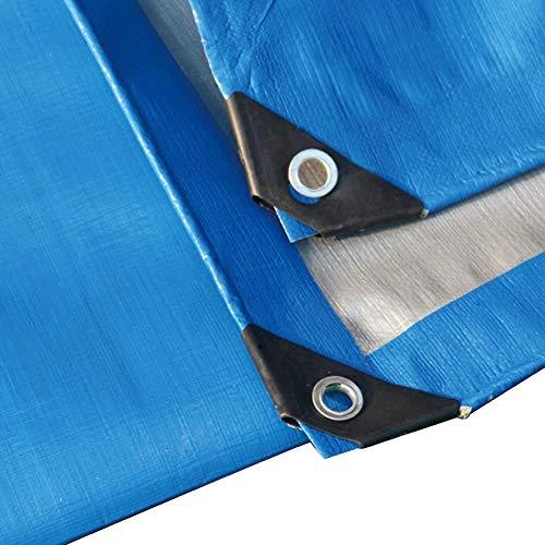 Lefran Abdeckplane Holz Anti-UV Vor Schlechtem Wetter Schützen Kapuze Verzinkte Öse Leicht Zu Falten Outdoor-Campingzelt, 12 Größen (Color : Blue, Size : 5x6m)