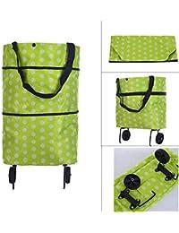 Sharp choice Lightweight Shopping Trolley Wheel Folding Travel Luggage Bag (Random Color & Design)