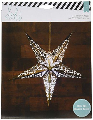 American Crafts Heidi Swapp 5 Star Lanterne en papier aluminium argenté 46 cm, acrylique, multicolore