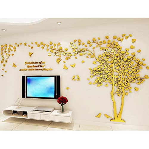 Missley 3D Riesen Baum Familie Bilderrahmen Wandaufkleber Wohnkultur Acryl Wandbild Kunst Wand Papier Aufkleber Wandtattoo (Riesen Bilderrahmen)