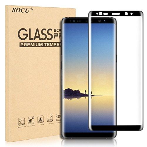 Protection écran Samsung Galaxy Note 8, SOCU Film de protection d'écran en Verre Trempé [3D Couverture complète] pour Samsung Galaxy Note 8 - Noir