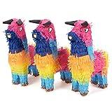 Blau Panda 3Stück Miniatur Bull Pinatas–Mini-Sized Rainbow Mexican Pinatas für Geburtstag, Cinco De Mayo, Festen, Feiern–13,3x 22,9x 5,1cm
