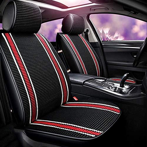 Auto Autositzauflage, atmungsaktiv Comfort Fron Drivers Orpassenger Sitzbezug, Universalzubehör-Sets Sommerbezüge Ice Silk Protector Five-Seat, Schwarz