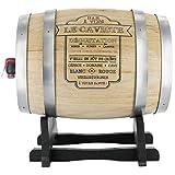 Promobo Fass aus Holz 3L mit Halterung-Spender Getränke Der caviste