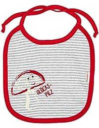 Adelheid Unisex Baby Halstuch Glückspilz Mehrfarbig (Ringel Mausgrau-Weiss 992), One Size (Herstellergröße:OG)