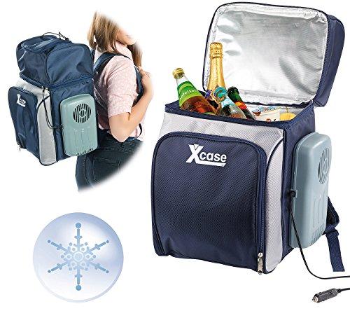 Xcase Kühltasche 12V: Thermoelektrischer XXL-Kühltaschen-Rucksack, 40 Liter, 12 V (Kühlbox-Rucksack)