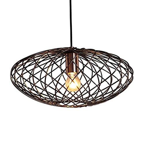 @lustre Lampe à Suspension Vintage Cuivre Fini Ovale En Métal Lustre Lustre Arts Décoratifs Et Décoratifs [Energie A +]