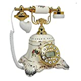 qq Estilo Europeo De Cerámica De Teléfono Antiguo Hotel Botón Dormitorio Dormitorio Decoración...