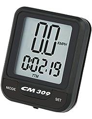 Ciclosport Funk-Fahrradcomputer CM 309 Black Edition Fahrradtacho mit Kalorienverbrauch