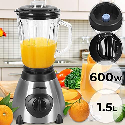 Licuadora Para Verduras y Frutas - con Potencia de 600 W, Capacidad de 1,5 L, y 5 Niveles de Velocidad...