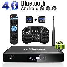 TV Box Android 7.1, [2G+16G] 2018 GooBang Doo XB-III Smart TV Box 4K Full HD con Antenna WiFi / Bluetooth 4.0 / Mini Tastiera