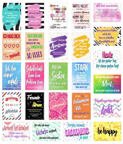 Edition Seidel Set 25 Postkarten Mit Spruchen Karten Mit Spruch