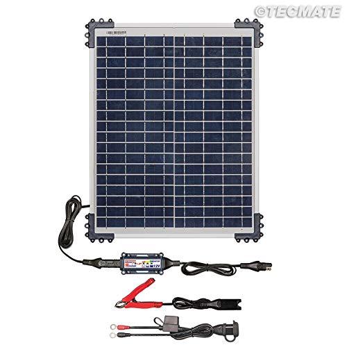 TecMate OptiMATE SOLAR 20W, TM522-2, 6-stufiges batterieschonendes Überwachungssystem Solar ladegerät & wartungsgerät für Moto, Auto, Pkw, Pickups oder Bootes. 12V 1,66A