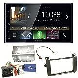 Kenwood DMX-7018DABS Digitalradio CarPlay Android Auto Bluetooth USB DAB+ MP3 Einbauset für Mercedes Viano Vito W639