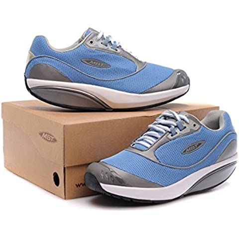 Donna fora Blue Breathable Walking Shoes Trail Casual Running Fitness