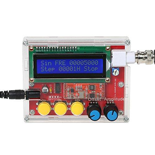 Hylotele AD9833 Kit de bricolaje de generador de señal de alta precisión Sinusoide/Triángulo/Salida cuadrada 1~10000Hz Valor de paso ajustable