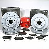 Zimmermann Bremsscheiben Coat Z/Bremsen + Bremsbeläge + Warnsensoren für vorne + hinten