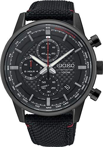 Seiko Orologio Cronografo Quarzo Uomo con Cinturino in Nylon SSB315P1