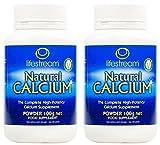 (2 PACK) - Lifestream Organic Natural Calcium Powder | 100g | 2 PACK - SUPER SAVER - SAVE MONEY