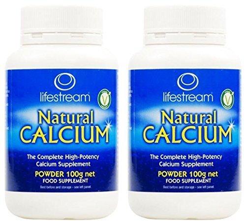 (2 PACK) – Lifestream Organic Natural Calcium Powder | 100g | 2 PACK – SUPER SAVER – SAVE MONEY