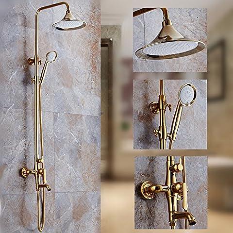 XXW Conjunto De Ducha Traje de estilo europeo ducha baño oro cobre-traje nuevo spray antiguo