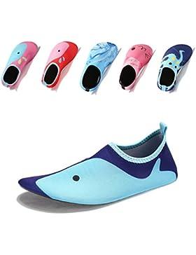 [Patrocinado]Laiwodun zapatos de niño Zapatos de agua de natación Niños Zapatos de niños descalzo Aqua calcetines para la piscina...