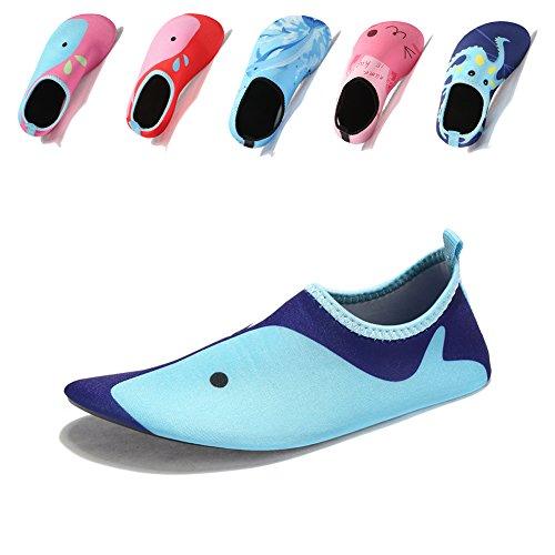 Laiwodun Kleinkind Schuhe Schwimmen Wasser Schuhe Mädchen Barefoot Aqua Schuhe für Beach Pool Surfen Yoga Unisex (6-24-25)