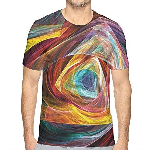 3D gedruckte T-Shirts, geometrische Formen des psychedelischen Steigungs-Dreiecks zeichnen flippige Hippie-illusionäre Kunst