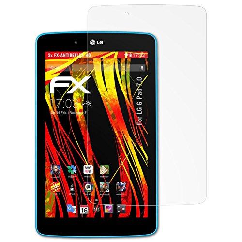 V400 Lg (atFoliX Folie für LG G Pad 7.0 Displayschutzfolie - 2 x FX-Antireflex-HD hochauflösende entspiegelnde Schutzfolie)