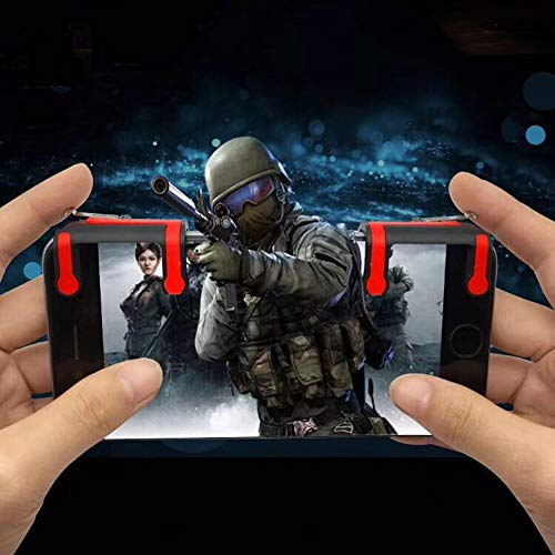 periwinkLuQ Handy Gaming Trigger Fire Button Griff Shooter Controller für iPhone Android - MX Links + rechts