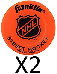 Franklin NHL Street Hockey Puck Constructed Of Durable Color May Vary (2-Pack)