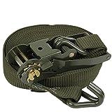 ZGBZZ Cables de remolque, correas de remolque, correas de carro de coche, correas de carga, tensores, correas, correas de carga, 5 cm de ancho, 3 mm de espesor, verde