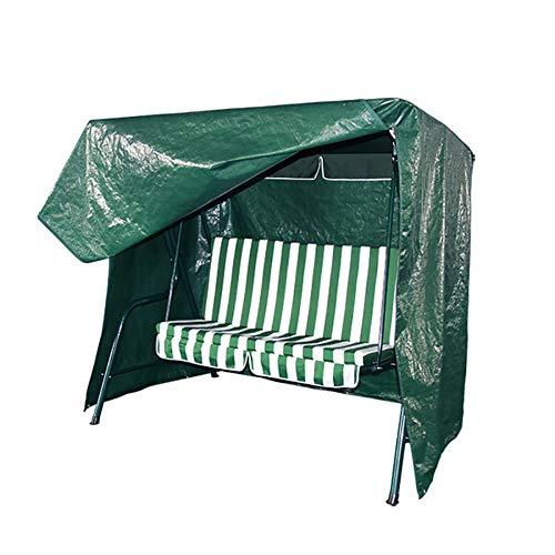 JS-YHLUSI Schutzhülle (Grün), Gartenschaukel Stuhl Staubschutz (Upgrade), PE Weben Wasserdicht Regenfest, Passend Für Draussen Terrasse,244X145x170cm -