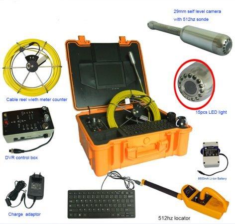 mabelstar 50m Kabel Kanalisation Video Rohr Abflussreiniger Inspektion Schlange Kamera w/512hz Sonde enthalten und 512Hz Rohr Locator Receiver) (Locator-sonde)