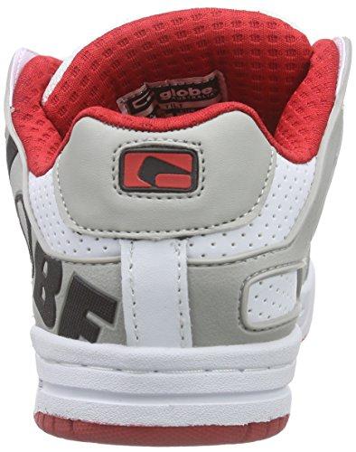Globe Tilt Unisex-Erwachsene Sneakers Weiß (white/red)