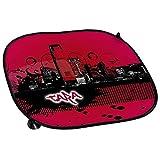 Auto-Sonnenschutz mit Namen Tara und schönem Motiv mit City-Skyline in der Farbe Pink für Mädchen | Auto-Blendschutz | Sonnenblende | Sichtschutz