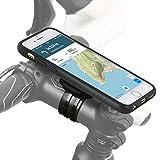 Wicked Chili QuickMOUNT 3.0 Fahrrad Halterung für Apple iPhone 6S/6 (4,7 Zoll) Bike Kit mit Case und Regenhülle (Handyhalterung, Ladekabel- und Kopfhörer Anschluss, Touch Unterstützung) schwarz/matt