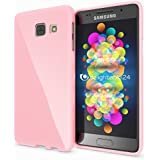 Samsung Galaxy A5 2016 Coque Silicone de NICA, Ultra-Fine Housse Protection Cover Slim Premium Etui, Mince Telephone Portable Gel Case Bumper Souple pour Samsung A5 2016 Smart-Phone - Rose