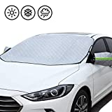 Womdee Frontscheibenabdeckung Auto Magnet, Universal Auto Frontscheibe Schneedecke Wasserdichte Staubschutzhülle und Eisschutz bei jedem Wetter für die meisten Autos 187x147 cm