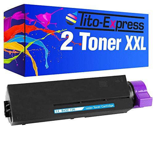 Preisvergleich Produktbild PlatinumSerie® 2x Toner-Patrone XXL für Oki B432 Schwarz 24.000 Seiten XXL-Inhalt B432DN B512DN MB492DN MB562DNW
