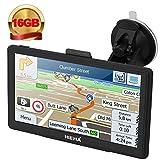 Hieha® GPS Auto Voiture ou Camion Android Système d'Operation 4.4.2 Navigation16Go Wifi Bluetooth 7 Pouces Écran HD Tactile Capacitif Carte d'Europe Pré-installée Navigateur Cartographie Gratuits à Vie...