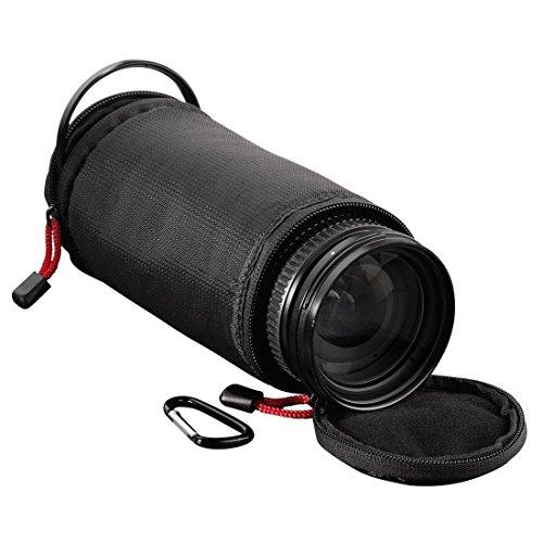 Hama Objektivköcher zur Aufbewahrung und Schutz eines Objektivs, 14 x 8.5 cm, Rexton, Schwarz