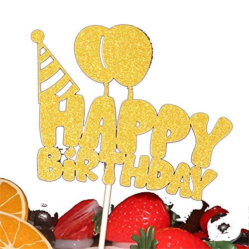 Birthday Party Supplies Cupcake Topper Geburtstag Party Dekorationen Kids Baby Shower Happy Birthday Cake Toppers H62 Cake Topper ()