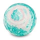 Captain LAX Massageball Original - Lacrosseball in der Farbe Rot/Weiß/Grün, aus Hartgummi, mit den Maßen 6 x 6 cm geeignet für Triggerpunkt- & Faszienmassage/Crossfit