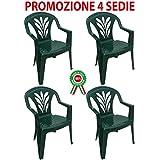 Sedie Di Plastica Offerta.Amazon It Sedie Giardino Plastica Casa E Cucina