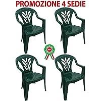 Amazon.it: Resina - Sedie per tavolo da giardino / Sedie: Giardino e ...