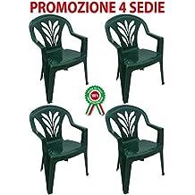 Sedie Da Giardino In Plastica Verdi.Sedie Da Giardino Verde Amazon It