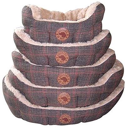 Country Pet Luxury Tweed/ Hand-Crafted/ Tweed Fabric Dog Basket, 50 x 40 cm 1