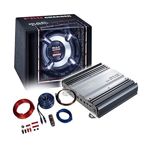 Mac Audio Basspaket 2-Kanal Endstufe/Verstärker+30cm Subwoofer+Kabel-Set - 1200W / MPExclusive 2.0 + Pro-Charger 130 + REN10KIT (Audio-subwoofer-endstufe)