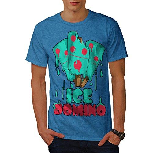 wellcoda Eis Domino Männer 4XL T-Shirt